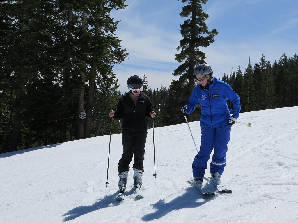 The 4Her clinic at Northstar California combined the fun of a gal getaway with superb personalized skill development; our coach, Susie Minton, knew just how to assess our abilities and introduce techniques © 2015 Karen Rubin/news-photos-features.com