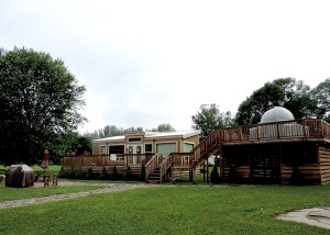 The Astronomy Lodge at Herkimer Diamond Mines KOA features its own planetarium and electronic telescope, and is decorated with photos from the Hubble © 2015 Karen Rubin/news-photos-features.com