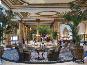 San Francisco's opulent Fairmont Hotel © 2015 Karen Rubin/news-photos-features.com