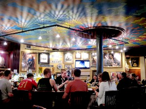 Hard Rock Cafe San Francisco, right at Pier 39 on Fisherman's Wharf is a festive place to dine © 2015 Karen Rubin/news-photos-features.com
