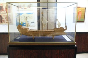 Naval Ship from the time of Alexander the Great. (Photo by Tim Campbell)