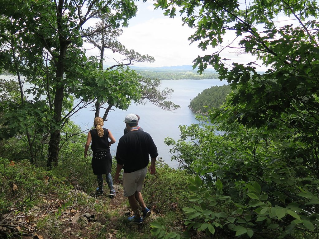 Basin Harbor Club offers a guided hike on the New York State side of Lake Champlain, in the Adirondack State Park © 2016 Karen Rubin/news-photos-features.com