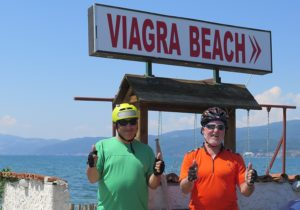 Taking a photo at Viagra Beach is irresistable © 2016 Karen Rubin/goingplacesfarandnear.com