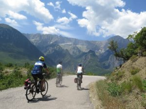 Biking through Albania presents dramatic scenery © 2016 Karen Rubin/news-photos-features.com