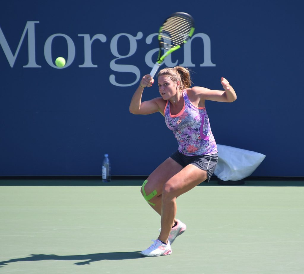 Kiki Bertens, of the Netherlands, at practice, is seeded 20 in the US Open © 2016 Karen Rubin/news-photos-features.com