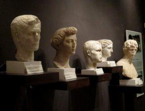 Busts of Augustus and Livia in the museum at Butrint © 2016 Karen Rubin/goingplacesfarandnear.com