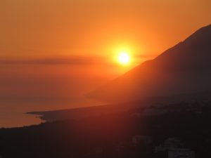 Sunset from Dhermi © 2016 Karen Rubin/goingplacesfarandnear.com