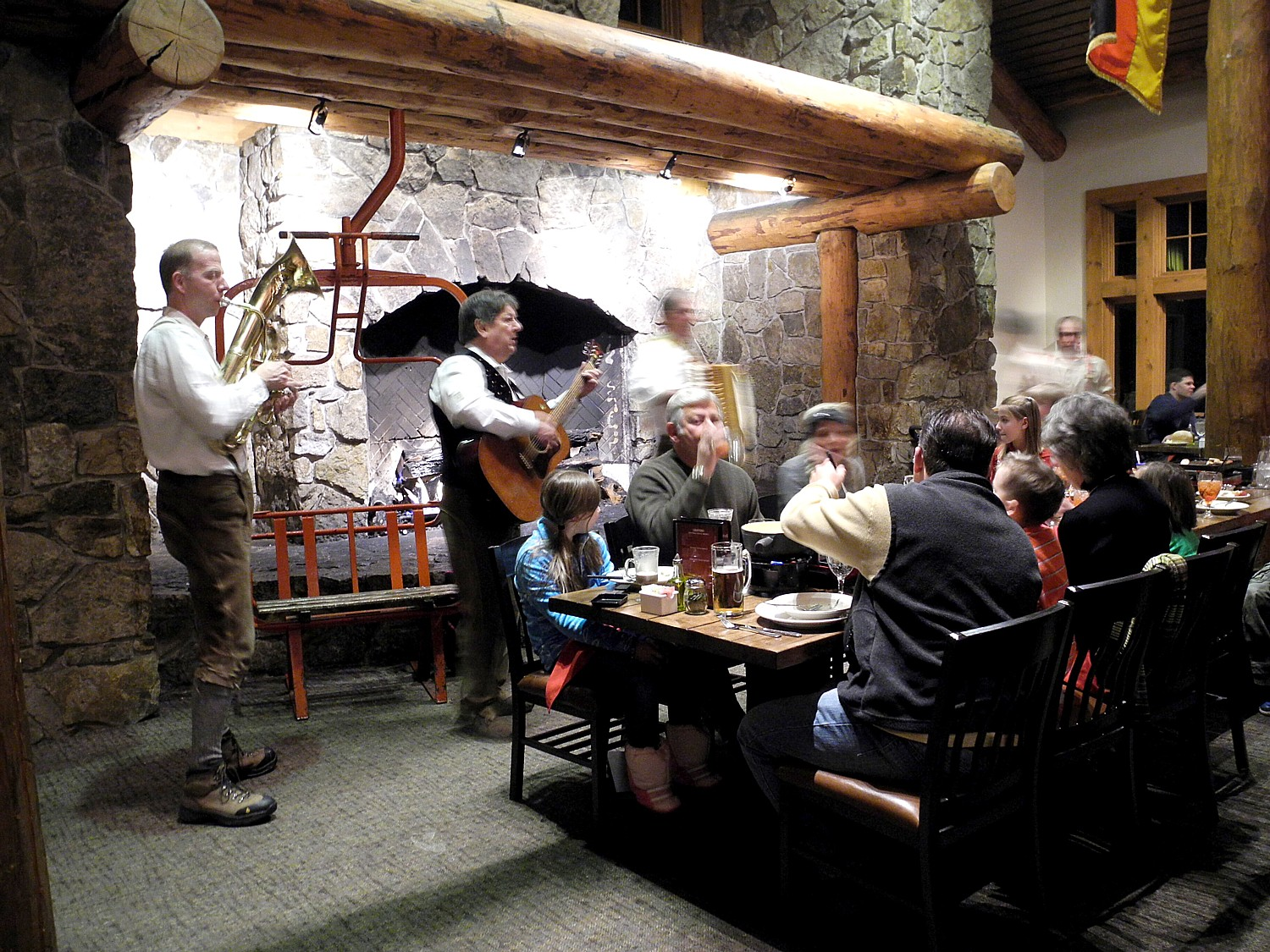 Bavarian Night at Der Fondue atop Keystone Mountain © 2016 Karen Rubin/goingplacesfarandnear.com