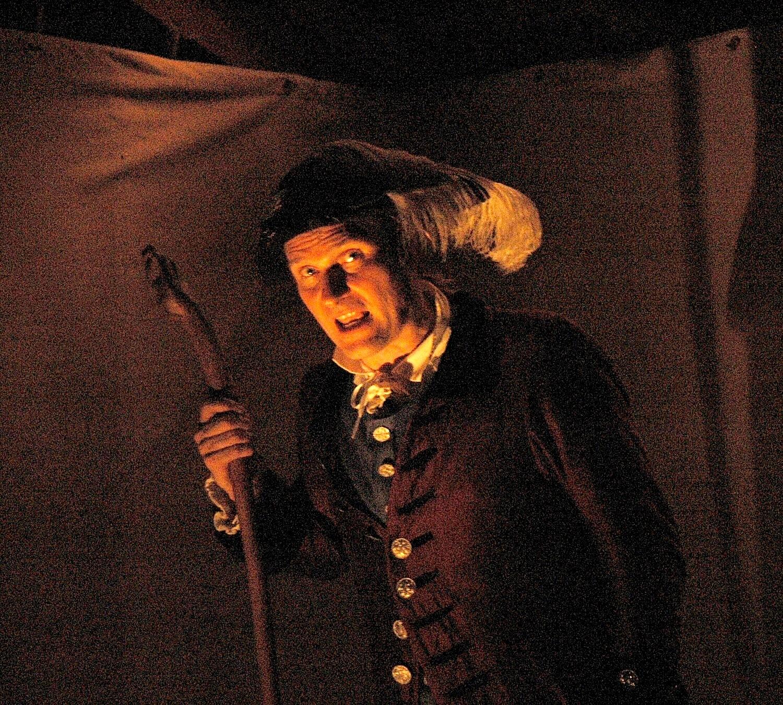 "Master storyteller Jonathan Kruk offers a dramatic re-telling of ""The Legend of Sleepy Hollow"" accompanied by live organ music in the candlelit interior of Sleepy Hollow's circa-1685 Old Dutch Church © 2016 Karen Rubin/goingplacesfarandnear.com"
