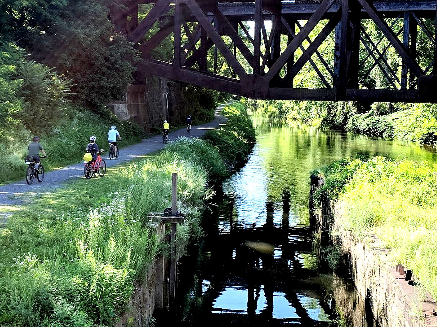 Rails-to-Trails Sojourn on Delaware-Lehigh Trail Showcases Repurposed Canal Towpath & History of Industrial Revolution