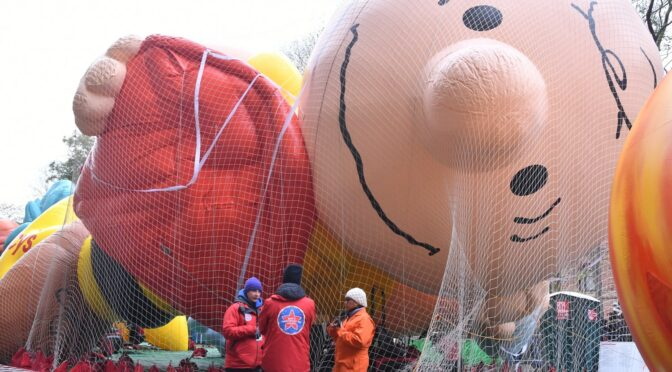Before the Macys Thanksgiving Parade Comes the Macy's Balloon Inflation