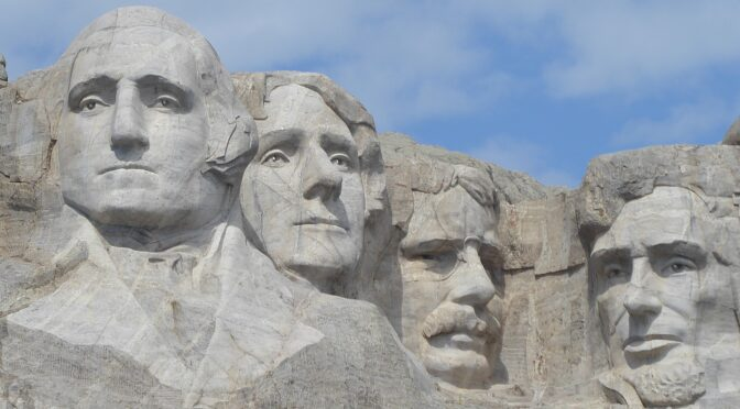 Mount Rushmore, Finale to 6-Day Wilderness Voyageurs South Dakota 'Badlands & Mickelson Trail' Bike Tour