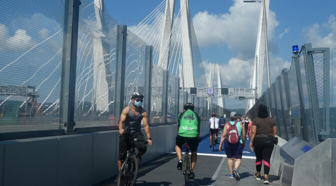 NYS's Newest Attraction: 3.6 Mile Biking/Walking Path Opens on Mario Cuomo Bridge over Hudson River