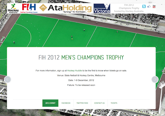 Hockey Aus :: Champions Trophy – Little Red Jet :: New York