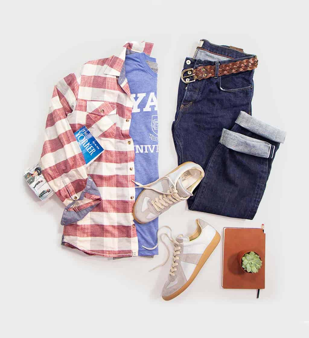 Yale Triblend Tee Outfit