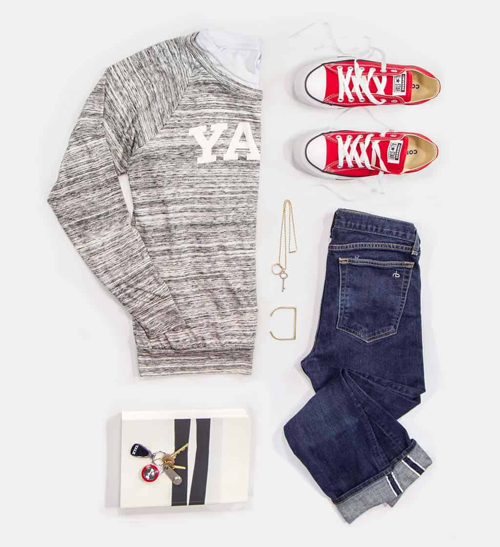 Yale Slouchy Pullover Outfit