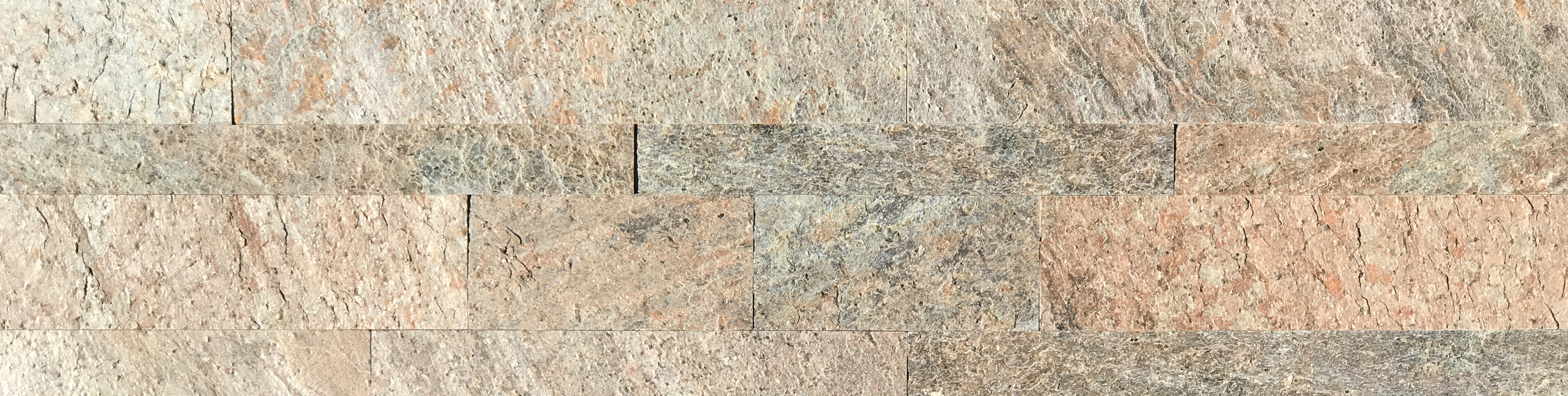 Copper Gold Slimline Ledgestone Panel Image