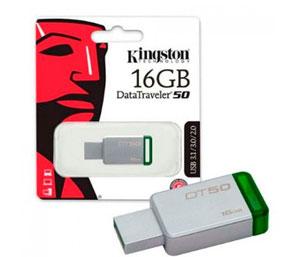 Kingston Data Traveler DT50 USB 3.0 Flash Drive  - 16GB (Metal/Green)
