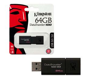 Kingston DataTraveler 100 G3 USB 3.0 - 64GB