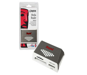 Kingston USB 3.0 Super Fast Media Memory Card Reader with USB Cable