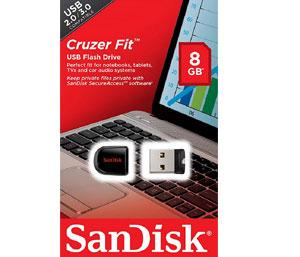 SanDisk Cruzer Fit 8GB USB 2.0 Low-Profile Flash Drive