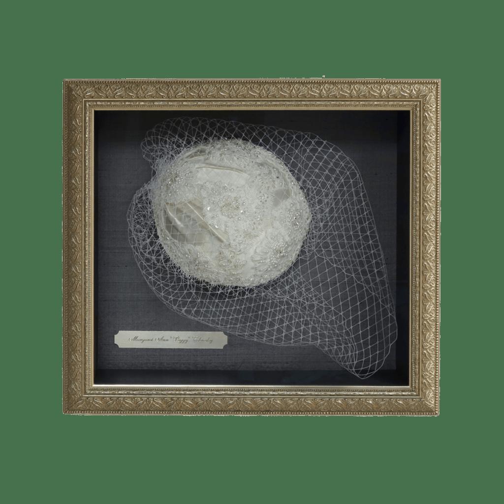 Vintage Bridal Cap Shadowbox