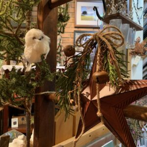 holiday star decor and bird