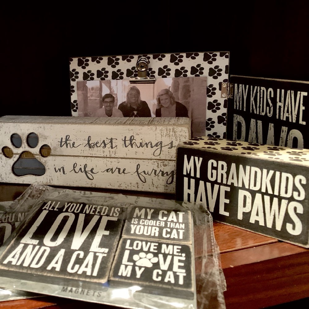 Cat Themed Home Decor and Wood Signs