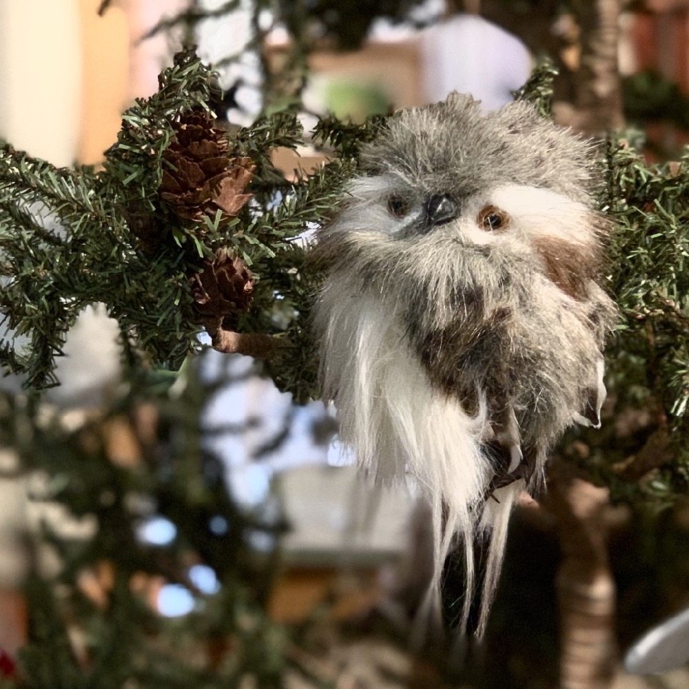 Owl Ornament on Tree Home Decorations