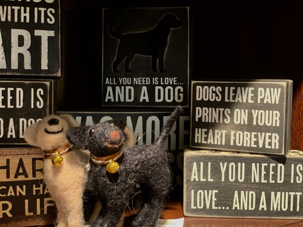 all you need is love and a dog dog lover wood sign gifts