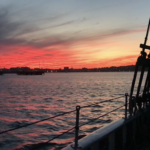 sunset over casco bay | Casco Bay private harbor cruise