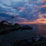 portland head light sunset
