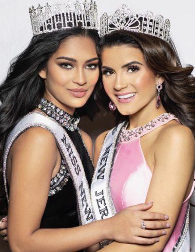 Manya Saaraswat and Ava Tortorici Miss New Jersey USA and Miss Teen New Jersey USA 2019