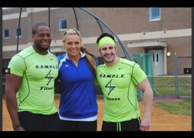 Travis and Evan with Olympian Jennie Finch