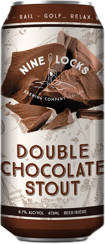 Nine Locks Double Chocolate Stout Beer Can