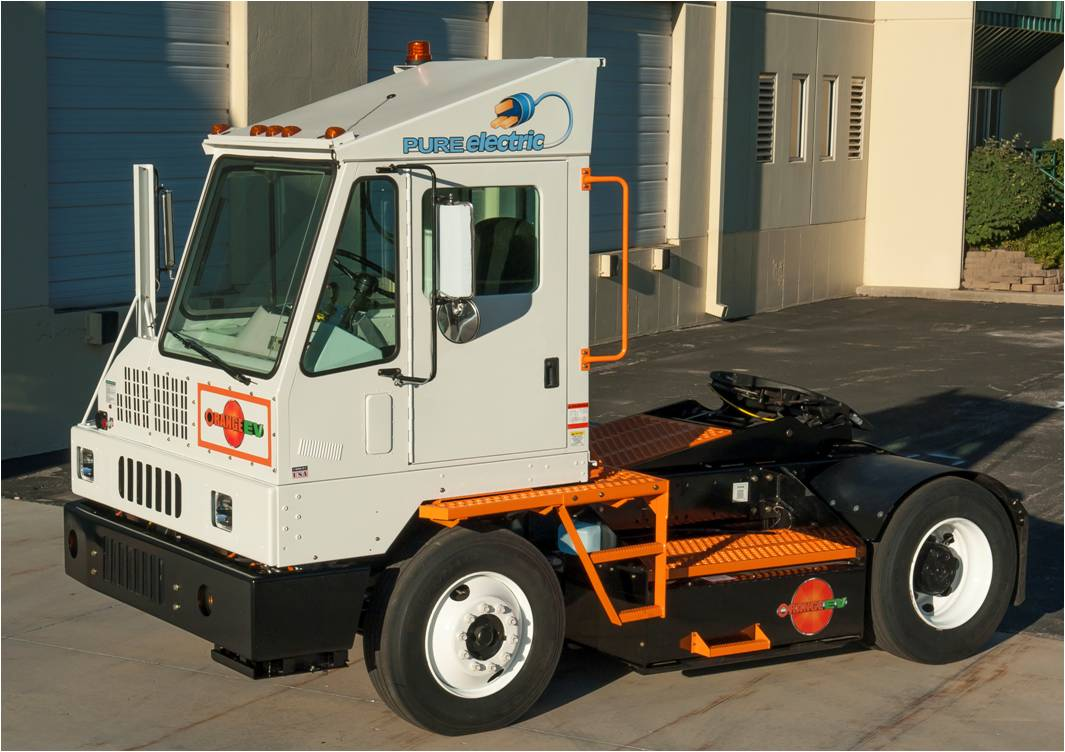 An on-road T-Series terminal truck. All Orange EV trucks are purpose built to site requirements.
