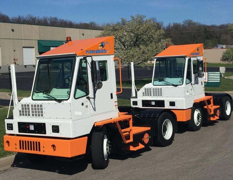 Orange EV Pure Electric Terminal Trucks 13