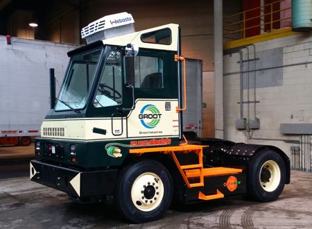 Groot Industries Orange EV Terminal Truck