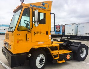 Ability Tri-Modal deploys five (5) Orange EV pure-electric terminal trucks