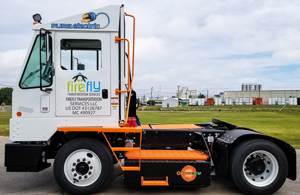 Firefly provides zero-emission yard management with Orange EV trucks
