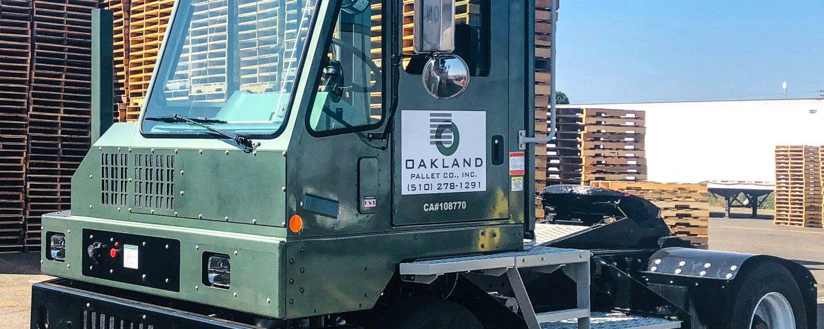 Oakland Pallet's Orange EV Pure Electric Terminal Truck