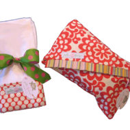 Polka Dot Frogs Diaper Clutch and Burp Cloths Winner!