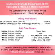 T-Mobile Giveaway Winners!