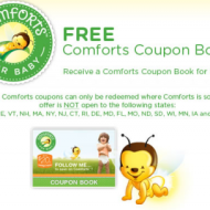 FREE Comforts Coupon Booklet