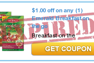 Emerald® Breakfast on the go! Review + NEW $1 OFF Printable Coupon