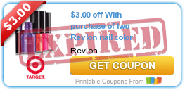$3.00 off With purchase of two Revlon nail color