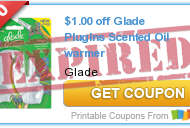 *HOT* NEW Glade Coupons to Print + Glade PlugIns Oil Warmer Deal at Walmart: Only $0.38!