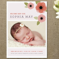 Minted: Stylish Personalized Baby Shower Invitations and Birth Announcements + A $65 Minted Gift Certificate Giveaway!
