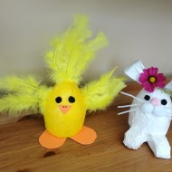 Easter Crafting With Your Kids: Duck Tape Easter Bunny and Chick