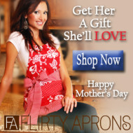 Flirty Aprons for Mother's Day with 40% OFF Coupon!